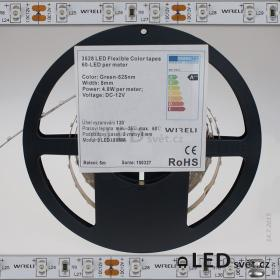 Color LED pásek 3528 60ks 12V 4.8W/m, 525nm - zelená
