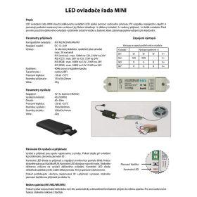 L-TECH Mini M3 - Dotykový dálkový ovladač RGB s přijímačem