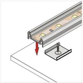 Montážní úchyt U kulatý zahlubovaný otvor, nerez ocel (1ks)