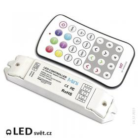 L-TECH Mini M7 - Tlačítkový dálkový ovladač RGB s přijímačem
