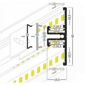 Hliníková designová lišta č.20 BACK