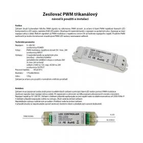 L-Tech Zesilovač PWM tříkanálový