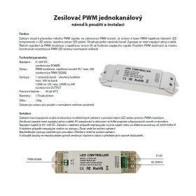 L-Tech Zesilovač PWM jednokanálový