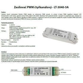 Zesilovač PWM čtyřkanálový