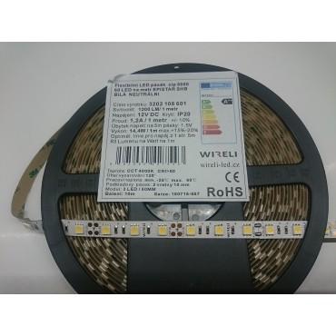 Led pásek Epistar SHB 5050 60ks 14.4W 1200lm 12V NW - neutrální b. | 5cm