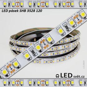 LED pásek SHB 3528 12V 9.6W/m, 780 lm/m NW - neutrální | 2.5cm