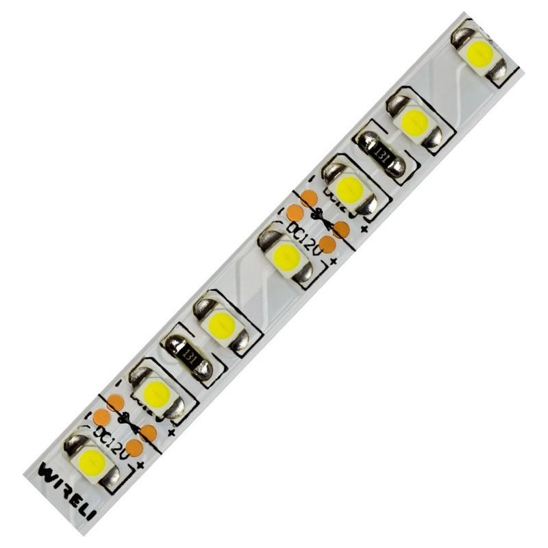 LED pásek WIRELI 3528 120 9.6W/m 12V SNOW WHITE (extra studená)