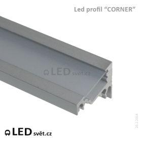 """LED profil 60° """"CORNER"""" (s jemně matnou krytkou)"""