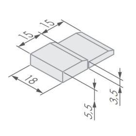 Montážní klín bílý GLASS 6/8 a 8/10 - pár