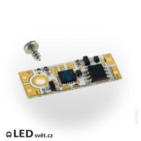 ETD5B - Dotykový vypínač a stmívač pro LED pásky 12/24V do hliníkových profilů - modrá LED