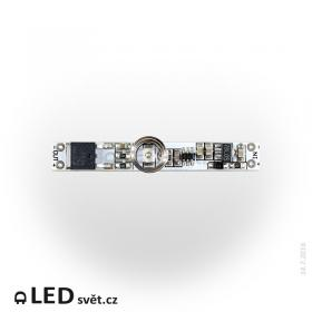 Vypínač do LED profilu kapacitní LUX D modrý 12V, max. 5A