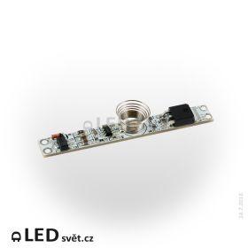Vypínač do LED profilu kapacitní LUX D 12V, max. 5A, teple bílá