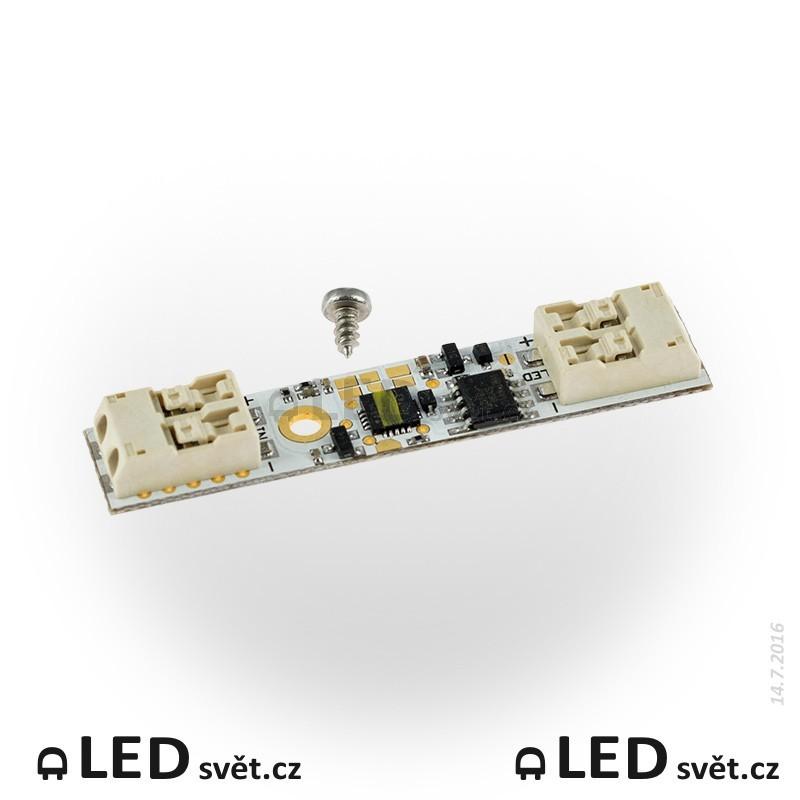 ETD5CY - Dotykový vypínač a stmívač pro LED pásky 12/24V do al. profilů - nepájivý