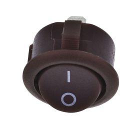 Vypínač kolébkový kulatý 2pol./2pin ON-OFF 250V/6A