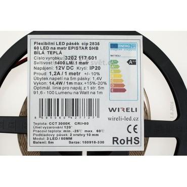 LED pásek 2835 12V 14.4W/m
