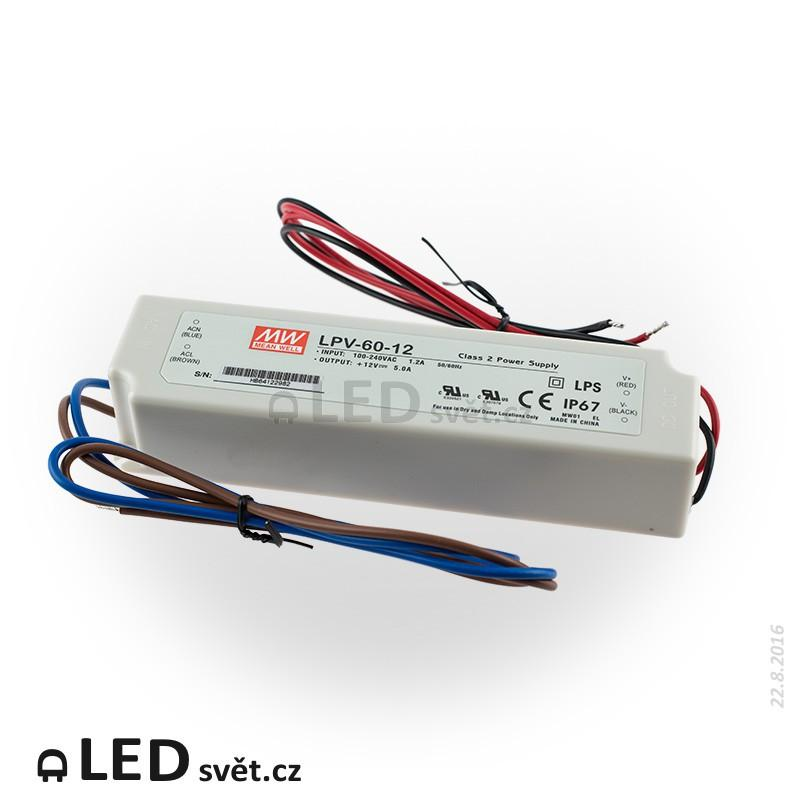 Zdroj pro LED - Meanwell LPV-60-12, 60W, 12V