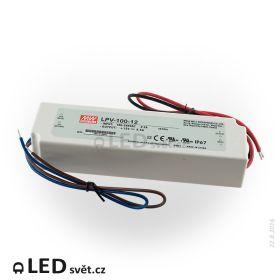 LPV-100-12 Meanwell Napájecí zdroj pro LED 100W 12V