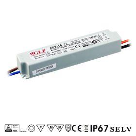 Zdroj GLP GPV-18-12, 12V 1.5A 18W IP67