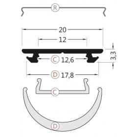 LED profil č.11 bez krytky