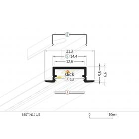 Profil WIRELI BEGTIN J/S hliník anoda 2m (metráž)