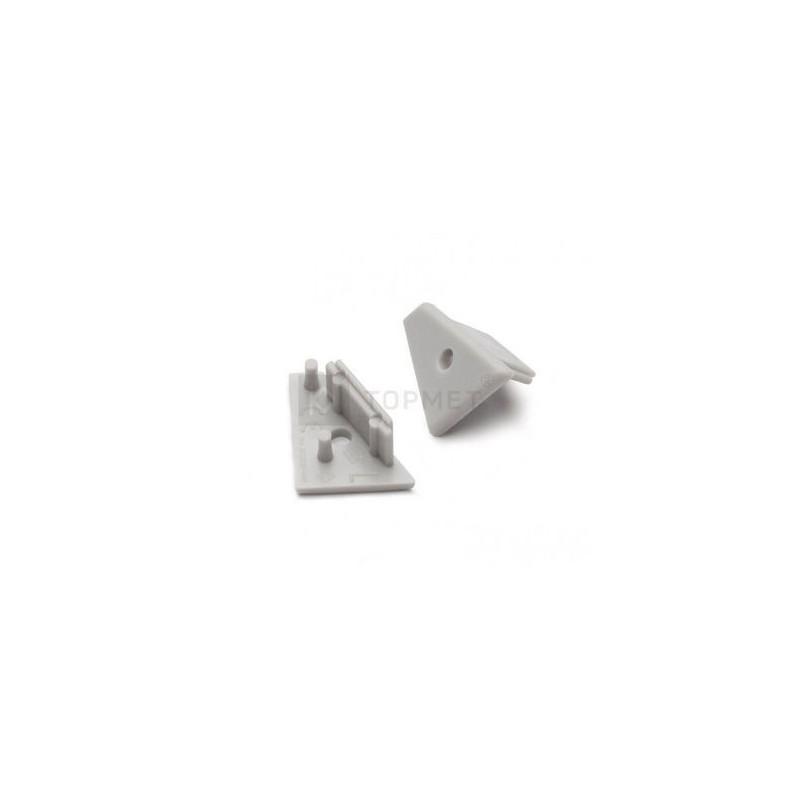 Koncovka WIRELI60 CORNER-o šedá s otvorem pro kabel, pár