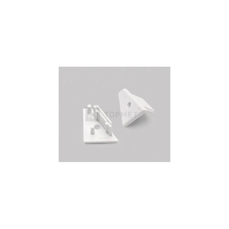 Koncovka WIRELI60 CORNER-o bílá s otvorem pro kabel, pár