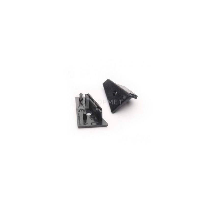 Koncovka WIRELI60 CORNER-o černá s otvorem pro kabel, pár