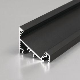 LED profil CORNER27 G/UX 30/60° al. anod. ČERNÝ l 2