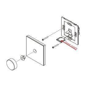 Ovladač točítko jednozónový inteligentní na stěnu bílý