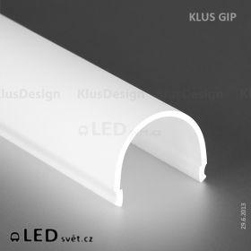 Krycí lišta KLUS GIP-L mléčná (kulatá) l 3