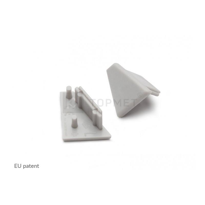 Koncovky rohové lišty 60° plast (pár)