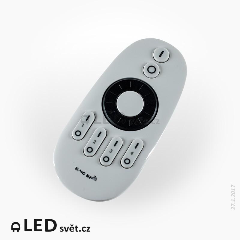 LED RF ovladač čtyřzónový 2x6A