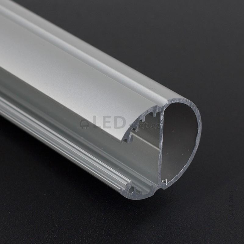 Odřezek 72cm-LED profil OVAL bez krytky