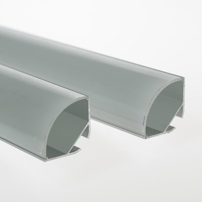 Odřezek 54,5cm-LED profil CORNER30 s mléčnou krytkou