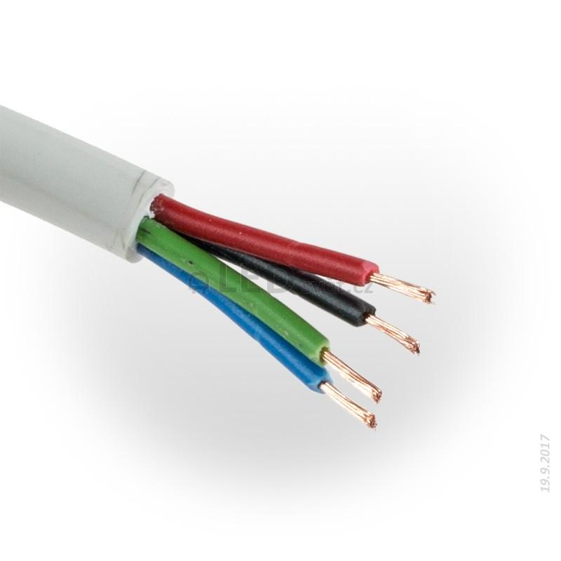 RGB kabel kulatý 4x0,5mm
