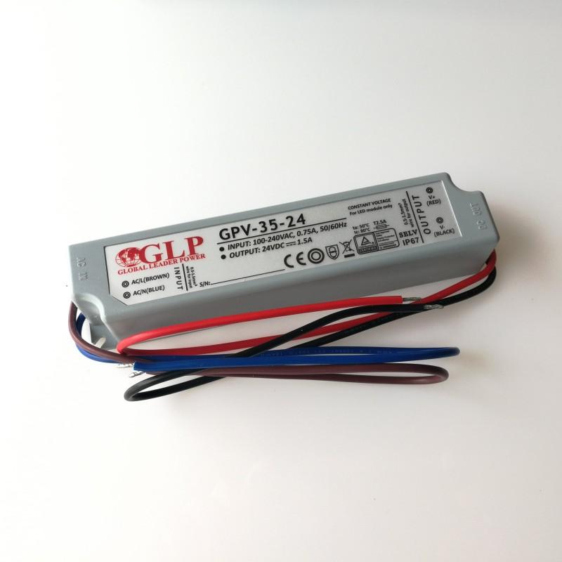GLP GPV-35-24 Napěťový zdroj pro LED 24V 1.5A 36W