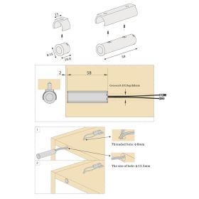 """Spínač IR dveřní """"A"""" k přisazení - 12VDC max. 5A"""