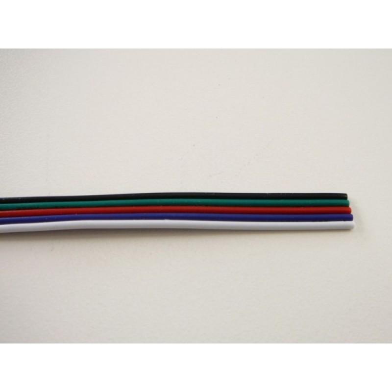 RGBW kabel plochý