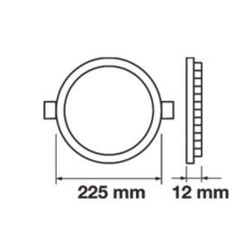LED panel kulatý VT-1807 RD 4860 18W WW (teplá bílá)