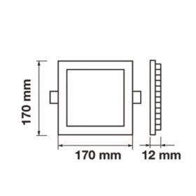 LED panel  čtverec VT-1207 SQ 4867 12W DW (neutrální bílá)