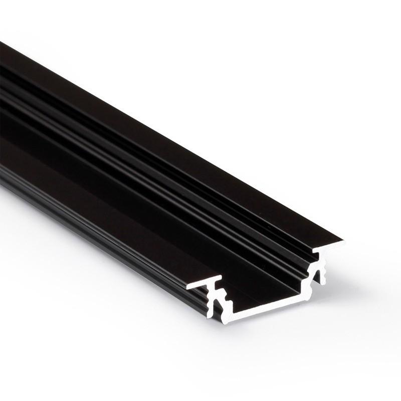 Vkládaný LED profil č.12 GROOVE ČERNÝ (bez krytky)