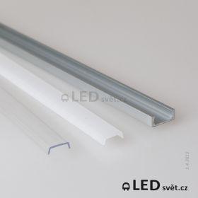 LED profil MIKRO-UP s nasouvacími difusory