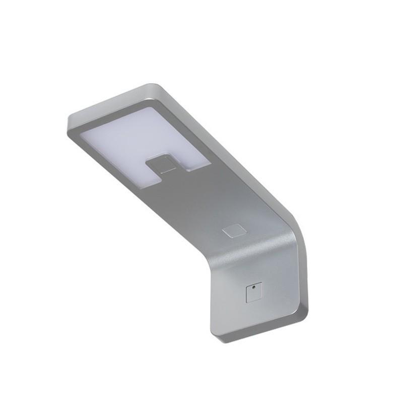 LED svítidlo LENA hliník s vypínačem, bílá studená 4,2W  CW 145 lm