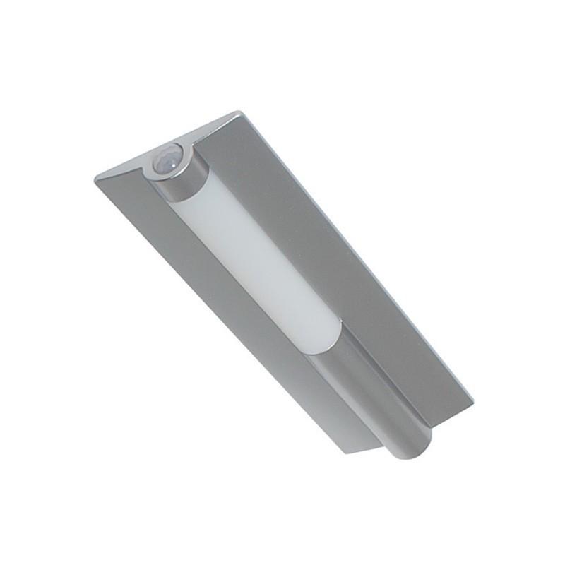 LED svítidlo NIKKA hliník s PIR senzorem, bílá neutrální 1,5W NW 120 lm