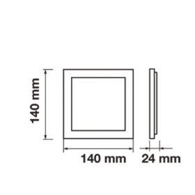 LED svítidlo stropní přisazené bílé 12W čtverec bílá neutrální 900 lm