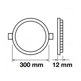 LED panel kulatý VT-2407 RD 4872 24W WW (teplá bílá)