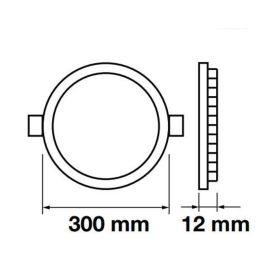 LED panel kulatý VT-2407 RD 4873 24W NW (neutrální bílá)
