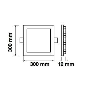 LED panel čtverec VT-2407 SQ 4889 24W CW  (studená bílá)