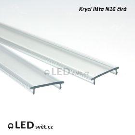 Krycí lišta N16 KLIP UV TRANSPARENT