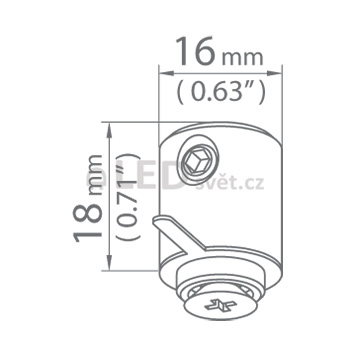 Závěska DP-ZZ slouží k uchycení profilů a svítidel na lanka nebo pruty.